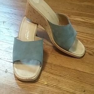 Shoes - Mila Paoli blue suede wedge